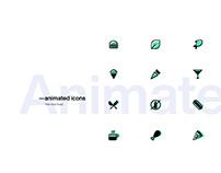 — Animated food icons free