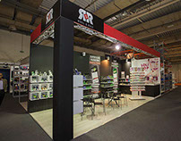 "Exhibition booth design for ""Roll & Rule"" company"