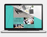 Finance themed website design