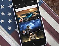 Social App Home screen