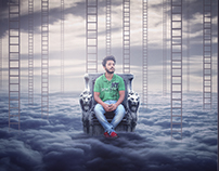 Cloud King Photo Manipulation Tutorial by Hass Hasib