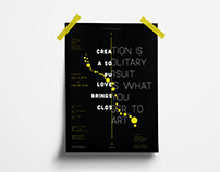 Typography Poster - Yayoi Kusama Museum 草間彌生美術館