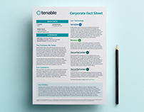 Tenable | Corporate Fact Sheet
