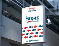 """Ο Τάκης"" Ι Fish Shop Identity Design"