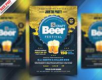Beer Festival Celebration Flyer PSD