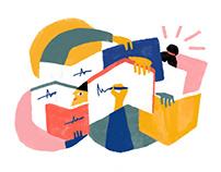 Editorial Illustrations for Rick Steves - Magazine