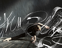 "Сalligraphy for the project ""Somatic dance"""