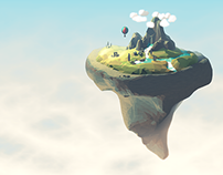 Low Poly Floating Landscape