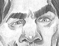 Bela Lugosi caricature