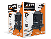 RIDGID Orange Vac Packaging