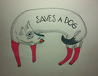 Saves a dog