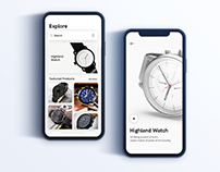 Highland Watch Product Apps Exploration Concept