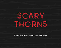 Free Scary Thorns Sans Serif Font