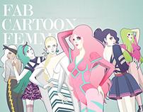 Fab Cartoon Femmes