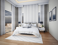 Master Bedroom with Office Rendering
