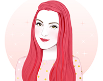 LOdoesmakeup Blogueuse illustration