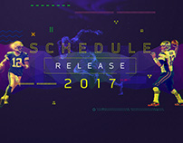 2017 NFL Schedule Release Style Explorations