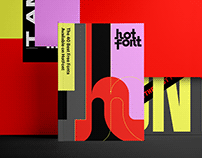 Hotfont brand design.
