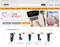 Homepage E-commerce Layout Design for e-hub.store