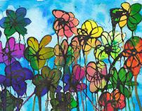 Flores asaltando sin compasión al cielo (50*25)