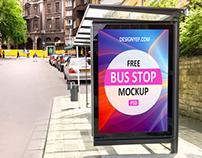 Free Bus Stop PSD Mockup