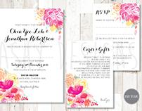 Chia Yee & Jonathan Wedding Invitation Suite