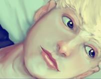 Portrait , Broken hearted eyes