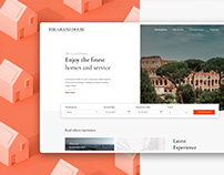 The Grand House - UI/UX, Website & Landing Page