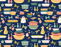 Vintage Kitchen Pattern Collection