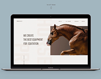 PRO Horses. Promo site of the company