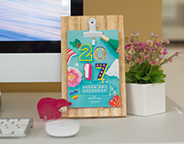 The Calendar Project: Paper Art Calendar