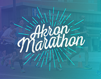 Merchandise Design for Akron Marathon
