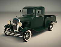 Low Poly Vintage Pickup 04