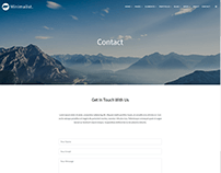 Contact Page - Minimalist WordPress Theme