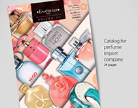 Catalog for perfume import company
