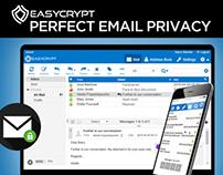EasyCrypt - Indiegogo website & elemnts design