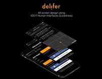 IOS11 Ui Kit - Delifer Food App Templates