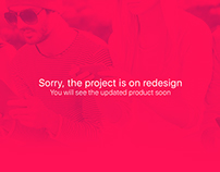 The project is on redesign