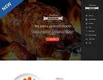 Responsive Landing Page (Restaurant Template Design)