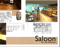 Saloon bar and restaurant