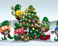 M&M's CHRISTMAS SCENE