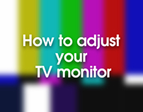How to adjust you television screen.