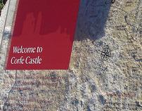 Corfe Castle interpretation board copy