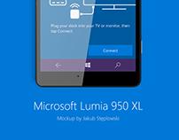 Microsoft Lumia 950 XL - Mockup PSD
