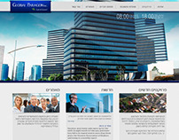 Website template design for a construction company