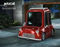 ILUSTRACION 3D CARRO CARTOON