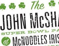 The John McShane Annual Super Bowl Party Invitation