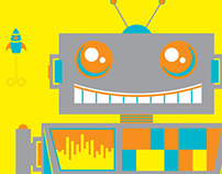 Robot Illustration & Print
