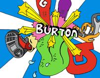 Stationary for Burton Snowbards