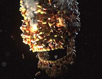 Candy Corn Skull